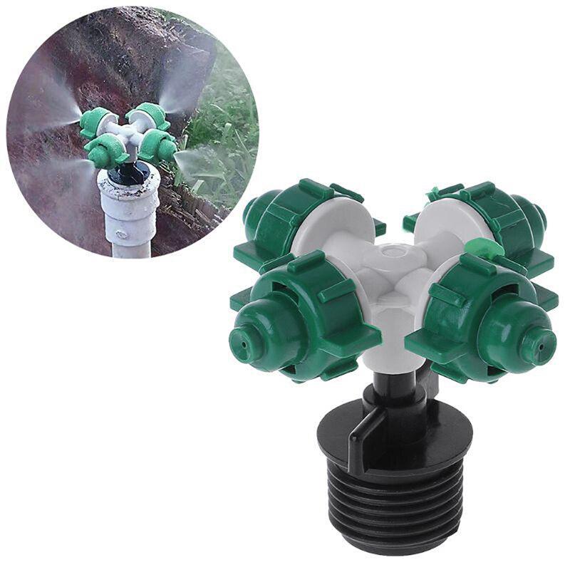 Gran oferta del rociador de agua boquillas cruzadas externa Conector de rosca gotero de irrigación jardín Anti goteo Boquilla DE NEBULIZACIÓN