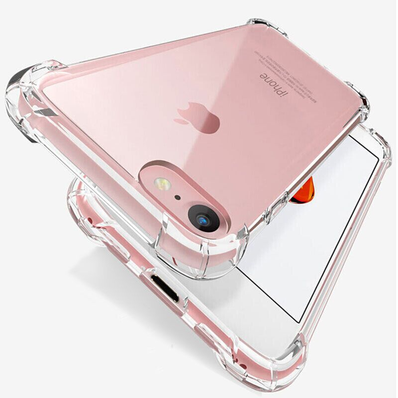 Luxury Shockproof Silicone Phone Case For iPhone 11 7 8 6 6S Plus X XR XS 11 12 Pro Max Case Transpa