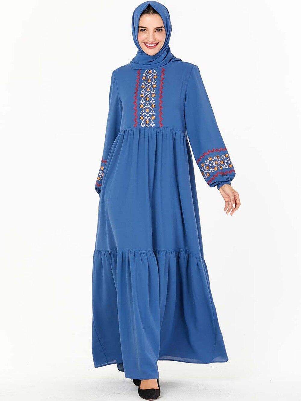 Las mujeres musulmanas de manga larga Dubai Hijab oro terciopelo verde vestido árabe Kaftan Abaya modesto islámico Turquía Jalabiya vestido de talla grande