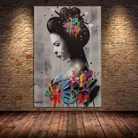 banksy graffiti canvas painting posters and prints abstract pictures wall art for living room bedroom cuadros decor unframed