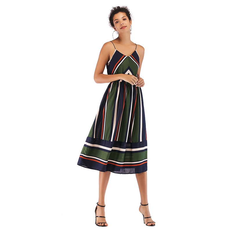 Kobieta sukienka-vestido informal de fiesta para mujer, ropa de chifón, sin espalda,...