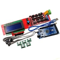 3D printer kit 2004LCD MEGA2560 R3 RAMPS1.4 control board A4988 driver board