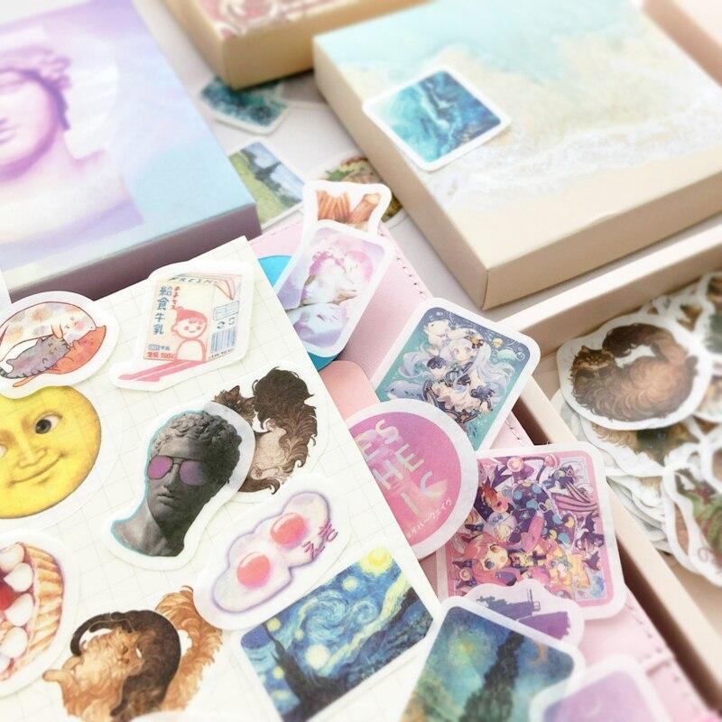 JIANWU, 200 hojas, pegatina bonita de dibujos animados creativa, conjunto de bolsas, pegatina decorativa, pegatina para diario, álbum de recortes, suministros escolares DIY