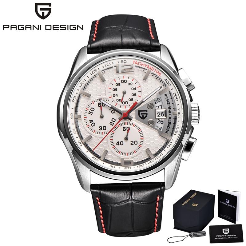 Relógio de Quartzo Relógio à Prova Pagani Design Marca Masculino Dwaterproof Água Esportes Código Tempo Tabela Lazer Observação Relógio 2021