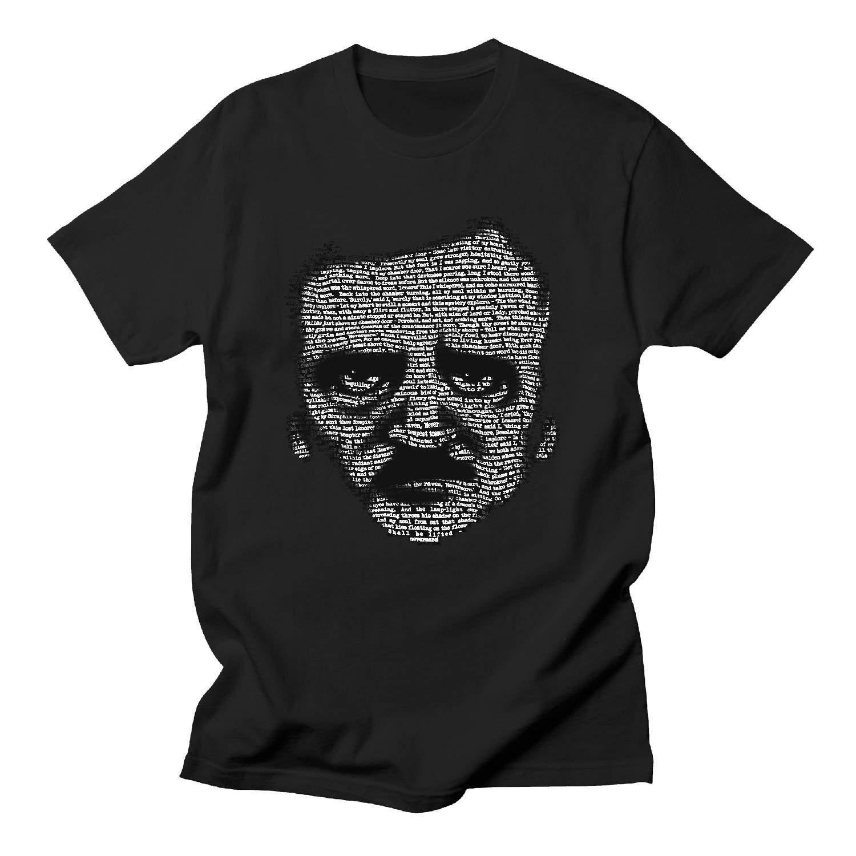 Las mujeres es Edgar Allan Poe camiseta camisas negras Homme novedades divertidas T camisa de los hombres de cuello redondo Top Pop adolescente Tee