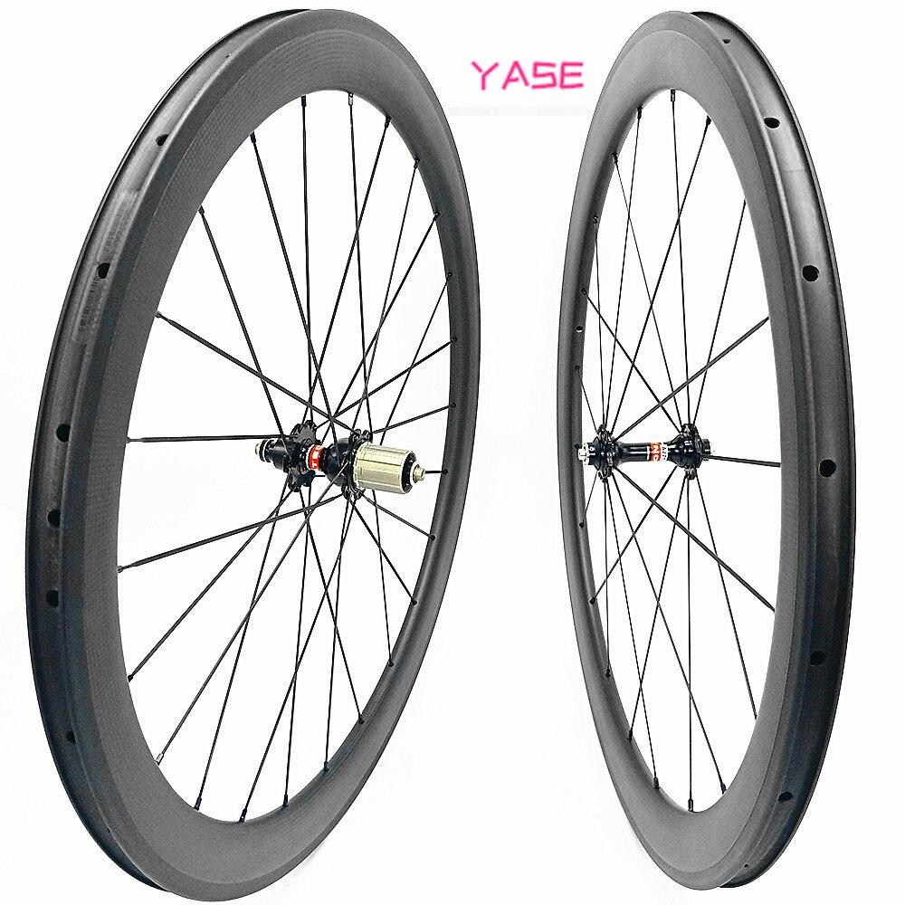 YASE llantas NOVATEC A271SB F372SB rodas 700c rueda de bicicleta clincher 50x25mm borde carbono ruedas de carretera 700c rueda de carbono