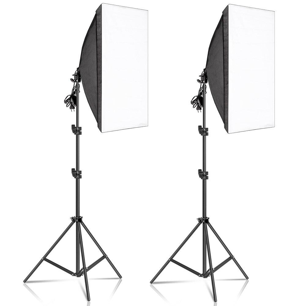 50x70 سنتيمتر التصوير الفوتوغرافي سوفت بوكس عدة إضاءة نظام إضاءة مستمر المهنية معدات لاستوديو الصور