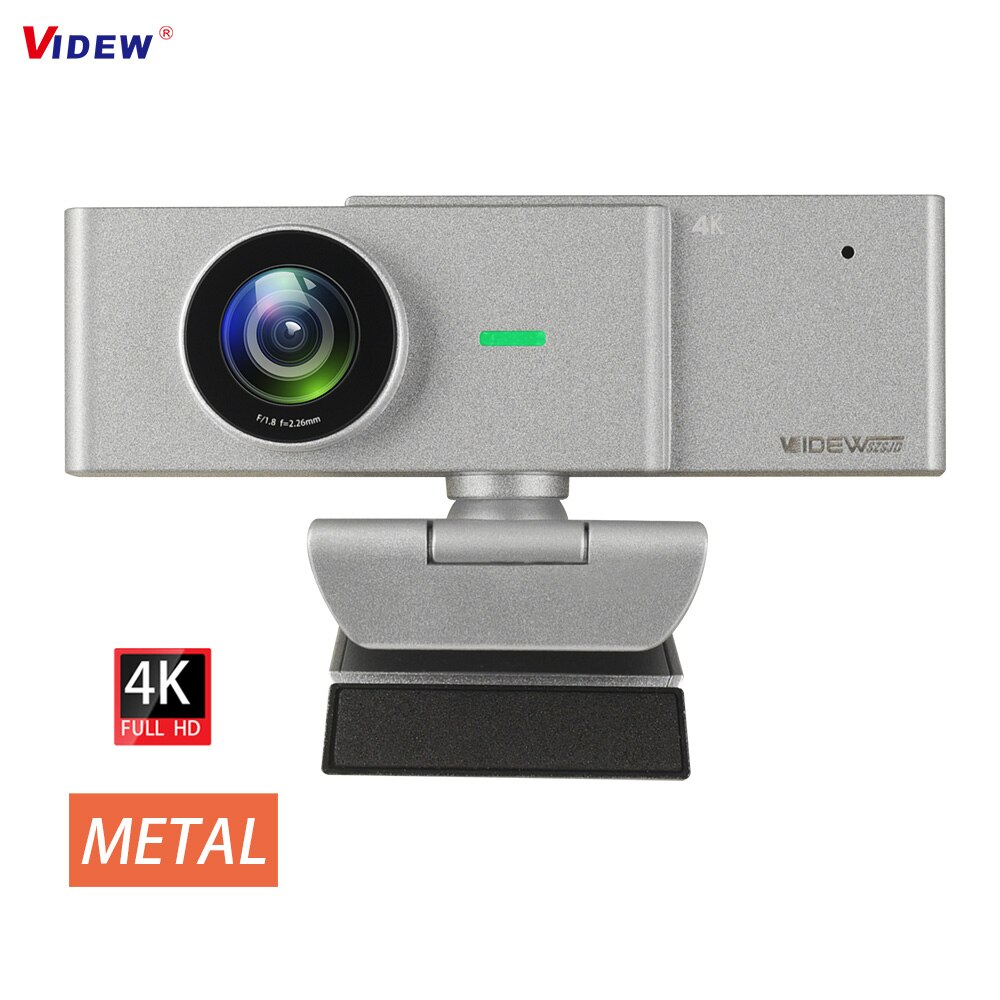 Review VIDEW 4K Webcam 8MP HD Computer Camera with Microphone Streaming Web Camera for Desktop Laptop USB Webcams for Video Call Gaming