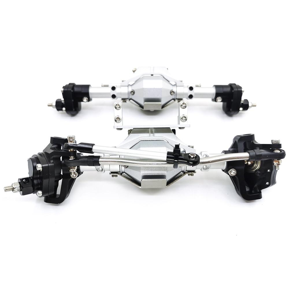 SCX10 Aluminum CNC Anodized Full Front Rear Portal Axle for 1/10 RC Crawler Car Axial SCX10 II 90046 90047 Upgrade Parts enlarge