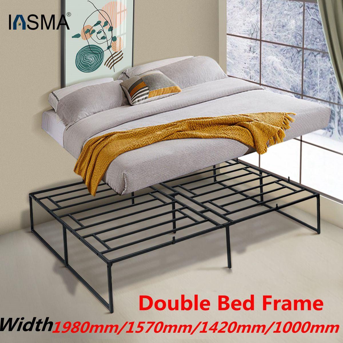 سرير مزدوج للأطفال والكبار ، إطار معدني صلب 500/1.98/1.57/1m ، فاخر ، فن الحديد ، سرير مزدوج سميك على الطراز الاسكندنافي ، 1.42 كجم رطل