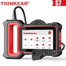 THINKCAR Thinkscan плюс S7 OBD2 диагностический масло сканера DPF «летучая мышь» и система контроля давления в шинах сброс ПП BCM блока управления двигателем TCM IC AC ABS Системы OBD 2 диагностики автомобиля