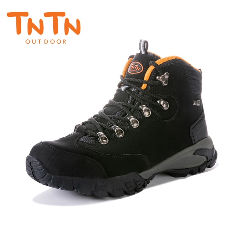 Botas de senderismo impermeables TNTN para hombres, zapatos de Trekking de cuero genuino, zapatillas deportivas para exteriores Unisex, botas para caminar transpirables para hombres