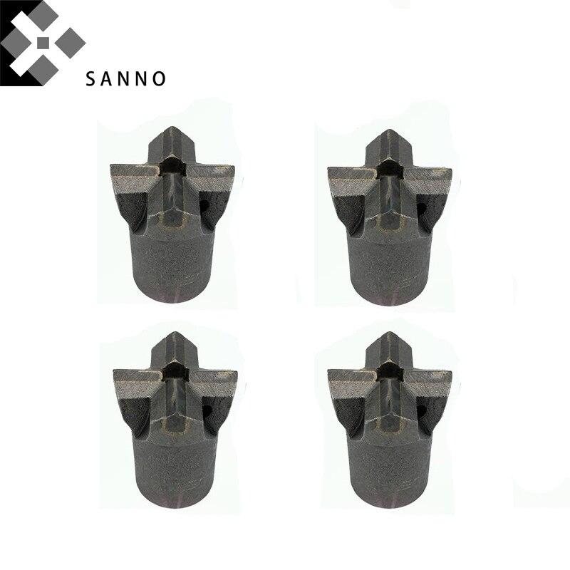 Высокое качество твердого камня сверла/зубило для камней D32mm-D100mm Ядро сверла наконечники конус крест биты для бурения горных пород, туннеля