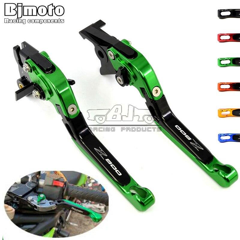 Motorcycle Adjustable Foldable Extendable CNC Brake Clutch Levers For Kawasaki Z 800 E  Z800 E version 13 14 15 16 17 2018 2019