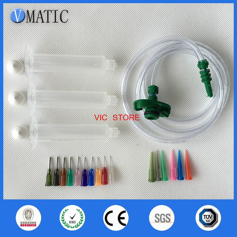 Free Shipping Trade Assurance Quality 3cc/ml Dispenser Dispensing Needle Tips Pneumatic Syringe Barrel Valve Robot Adapter