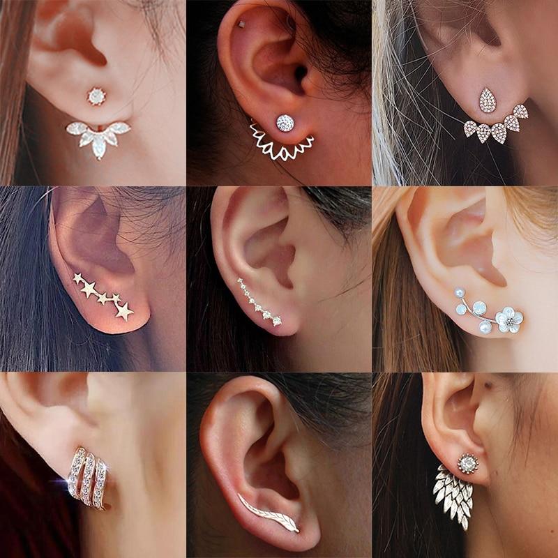 Минђуше од кристалног цвећа за жене - Модни накит