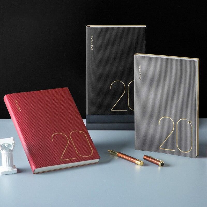 A5 Agenda de cuero suave 2019 2020 Agenda cuaderno eficiencia cuadernos planificadores revistas Oficina mujer Agenda semanal