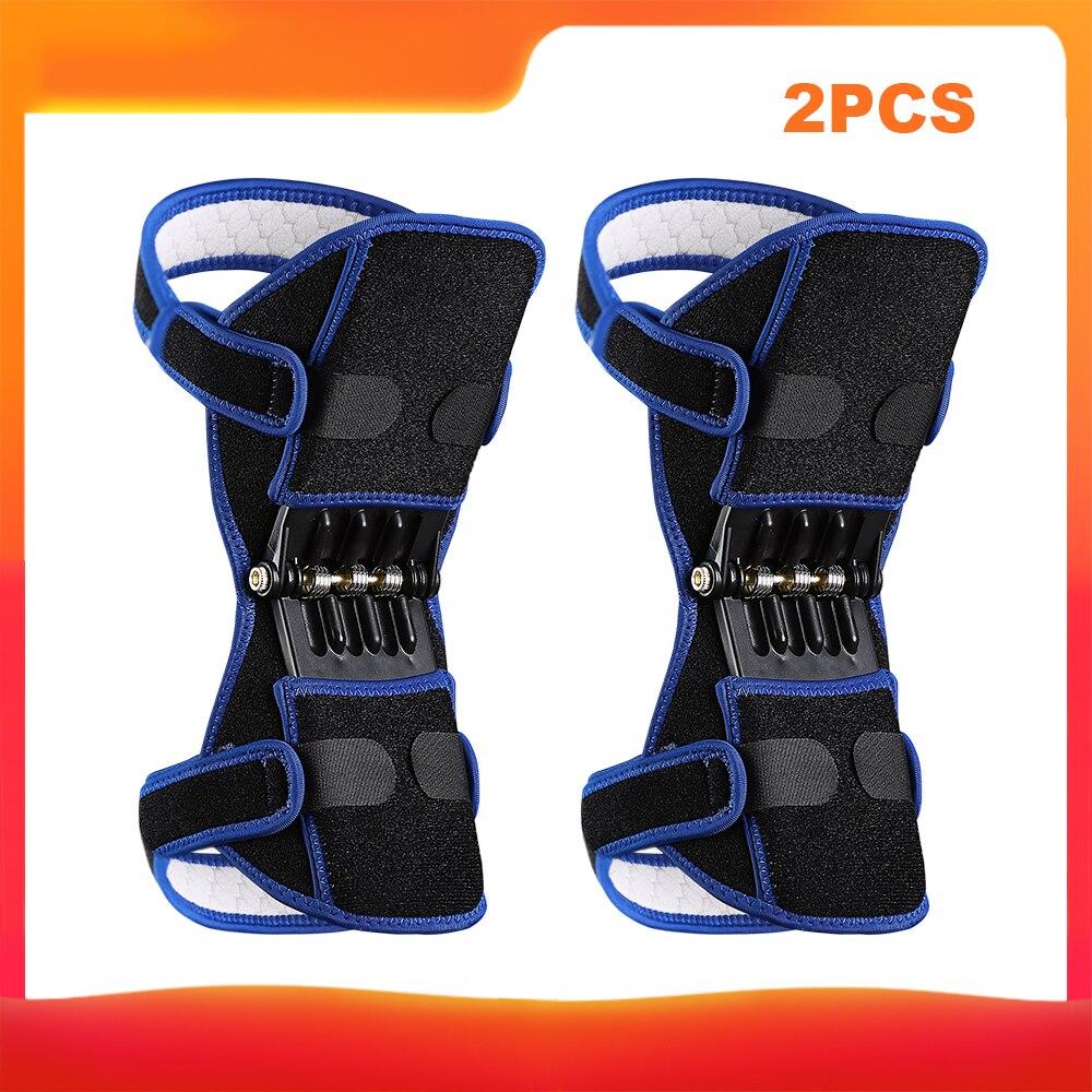 Rodilleras de soporte de articulación transpirables antideslizantes soporte de articulación de elevación potente rodillera de rebote fuerza de resorte potenciador de rodilla