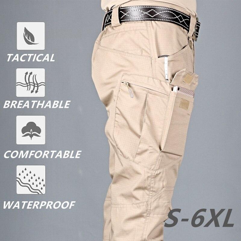 Брюки-карго IX9 City мужские тактические, армейские штаны в стиле милитари, хлопковые эластичные брюки-стрейч со множеством карманов, повседне...