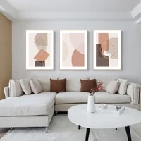abstract pink blue orange poster modern art printed canvas painting geometric decorative pictures on the wall for living room