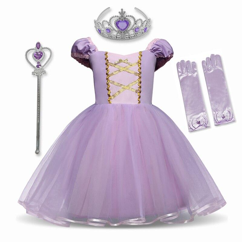 Meninas de neve branco vestido crianças fantasia cosplay traje com fitas crianças halloween festa roupas anna princesa vestidos