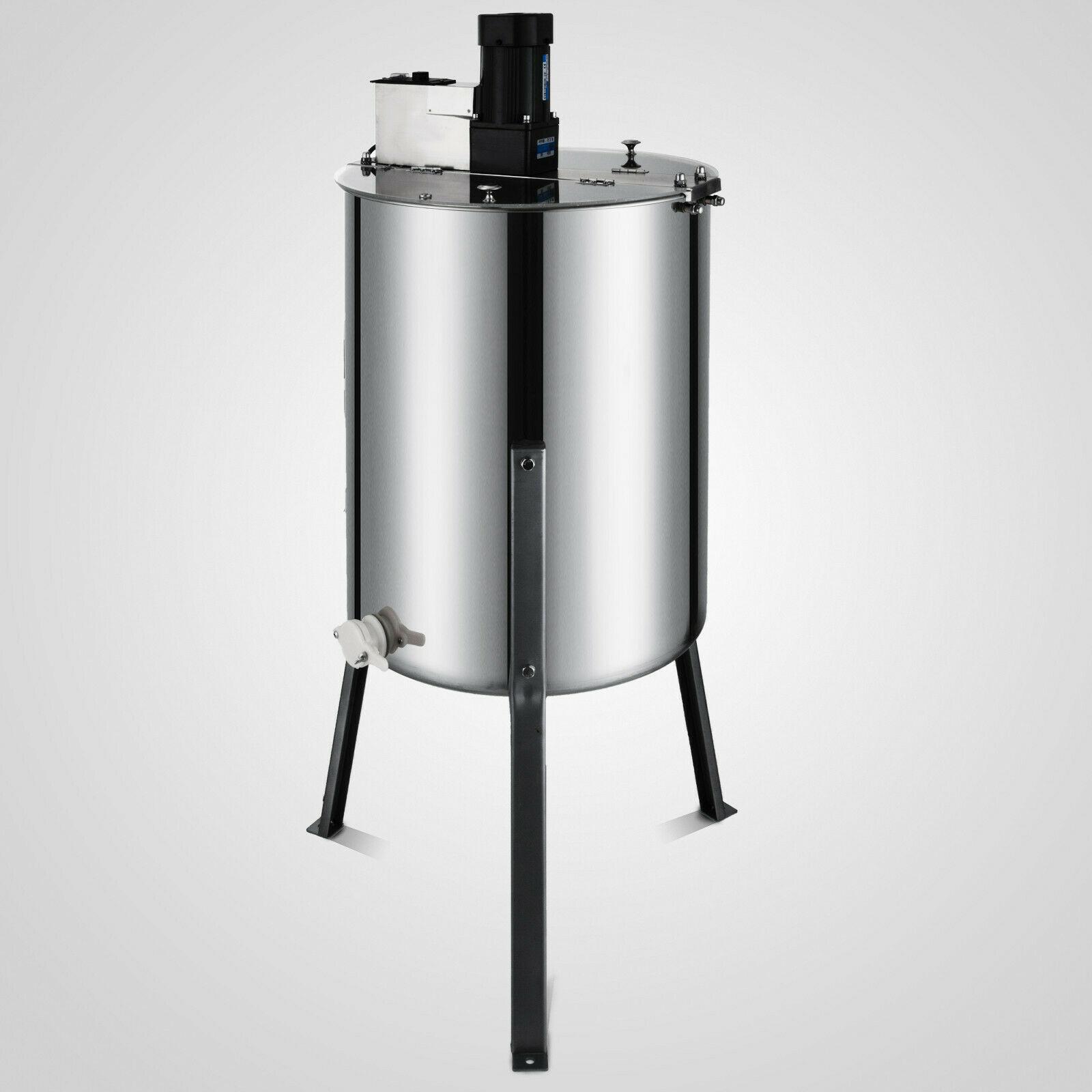 Extractor eléctrico de abeja de miel VEVOR 4 marco de acero inoxidable Spinner de panal con envío gratis