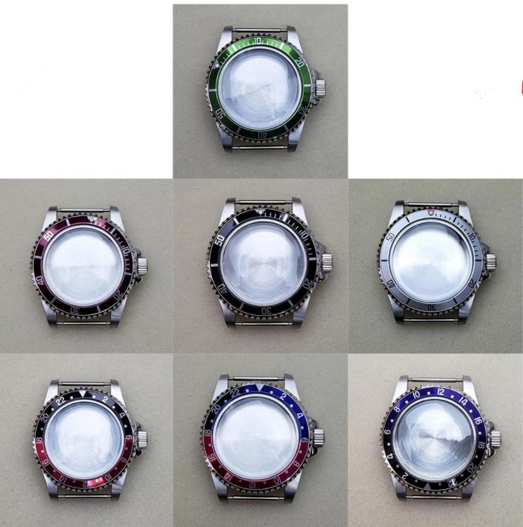 Acessório para Nh35 Inoxidável Relógio Case Reparação Nh36 Assista Movimento 39.5mm Aço