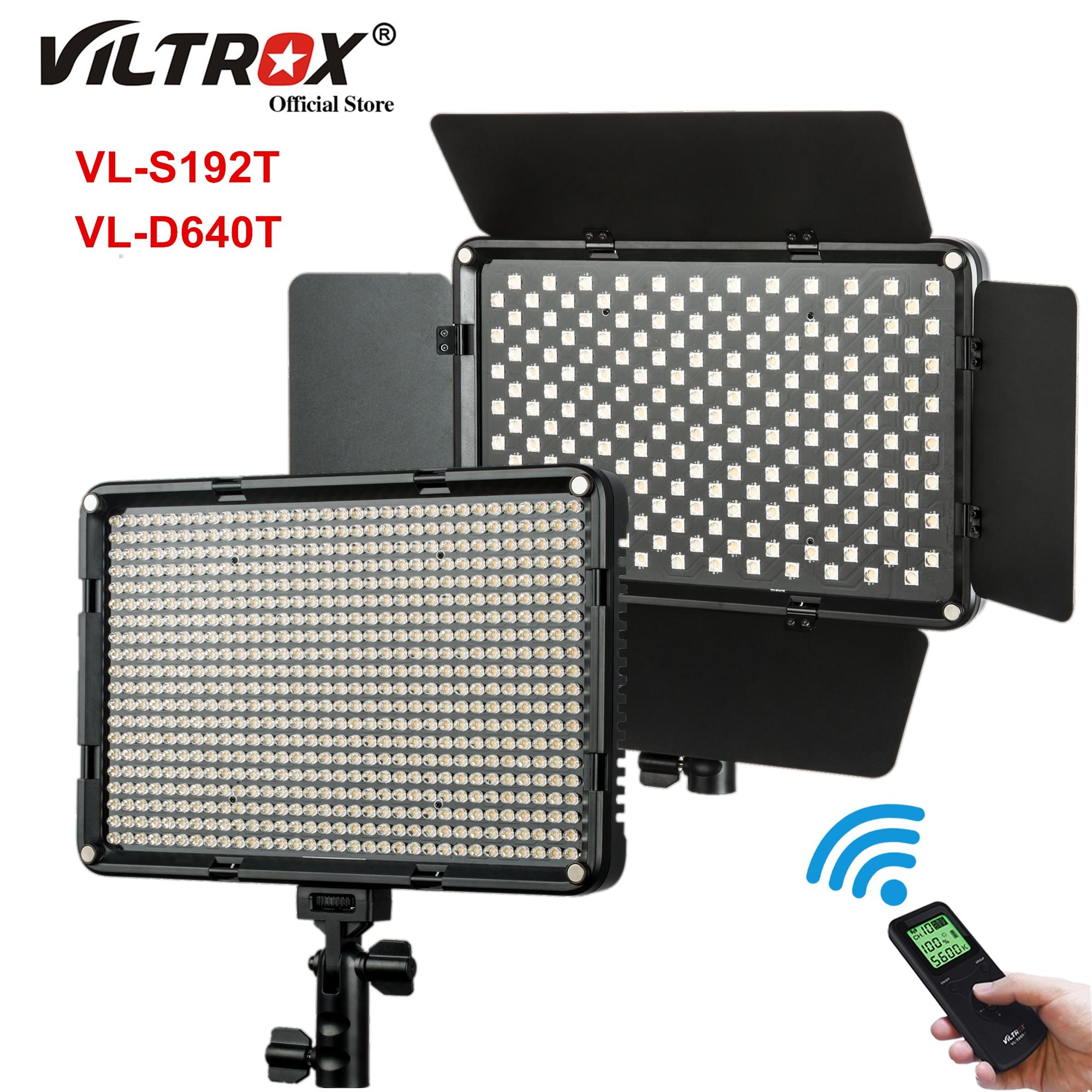Viltrox VL-D640T 50 واط مصباح ليد لوحة التصوير ضوء لوحة 3300k-5600k ثنائية اللون اللاسلكية عن بعد استوديو الفيديو مصباح التصوير