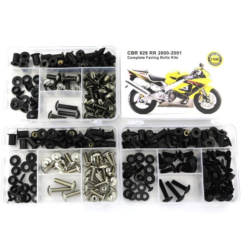 For Honda CBR929RR CBR 929RR 2000 2001 Complete Full Fairing Bolts Kit Screw Fairing Clips Speed Nuts Covering Bolts Steel