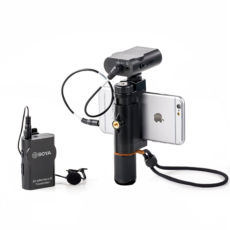 BOYA BY-WM4 Pro K1/K2  Wireless Microphone Lavalier Microphone Condenser for Sony Nikon Canon DSLR Camera Phone Studio enlarge