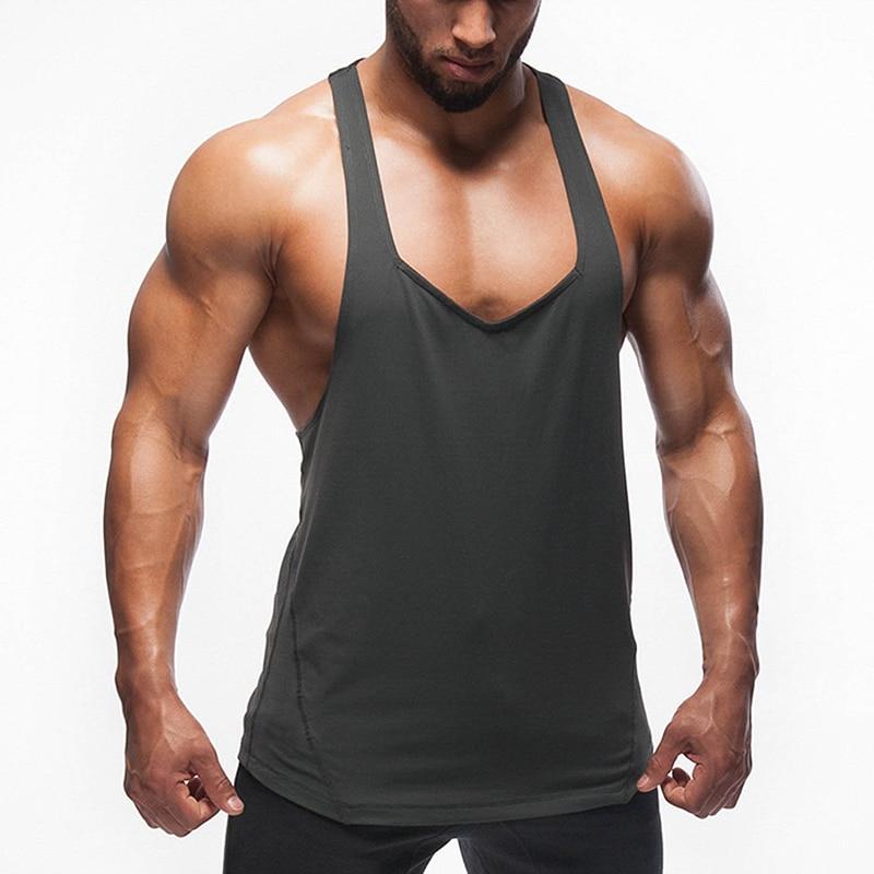 Camiseta de tirantes de gimnasio para hombre de chaleco muscular de culturismo... camiseta de baloncesto