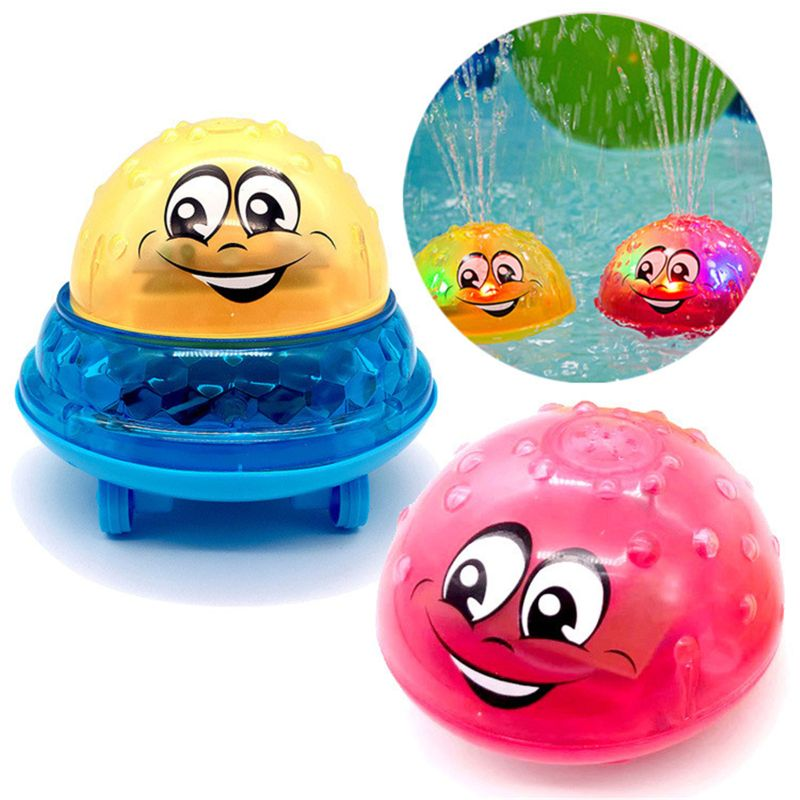 Bath Toys Spray Water Light Music Rotate Ball Kid Toys for Baby Toddler Bathroom Summer Play Water