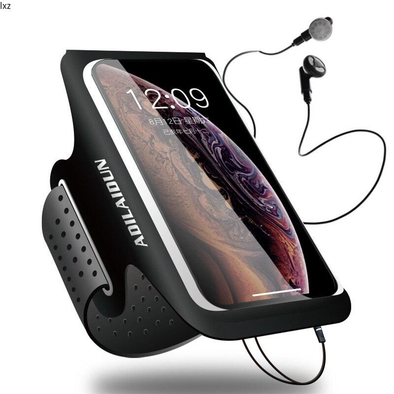 تشغيل الرياضة ذراع هاتف محمول حقيبة مقاوم للماء اللياقة البدنية هاتف محمول مضيئة الذراع الحقيبة الحقيبة التنزه الركض بطاقة مفتاح حامل الجيب