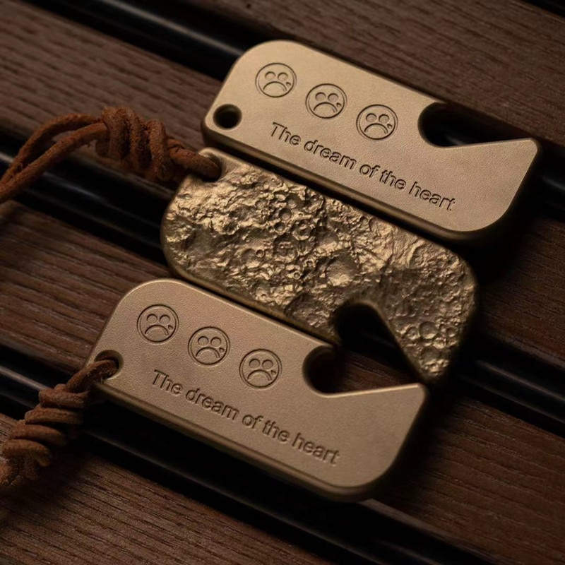 DZ Original Moon Surface Bottle Opener Brass Beer Screwdriver EDC Keychain Creative Trendy Toys enlarge
