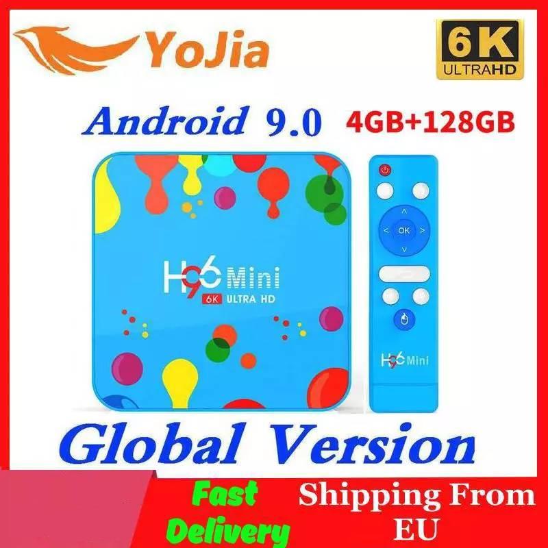Neue 4GB RAM 128GB ROM H96Mini Android 9,0 TV Box Allwinner H6 QuadCore Dual Wifi 32GB MAX 6K Smart Media Player H96 Mini PK TX6