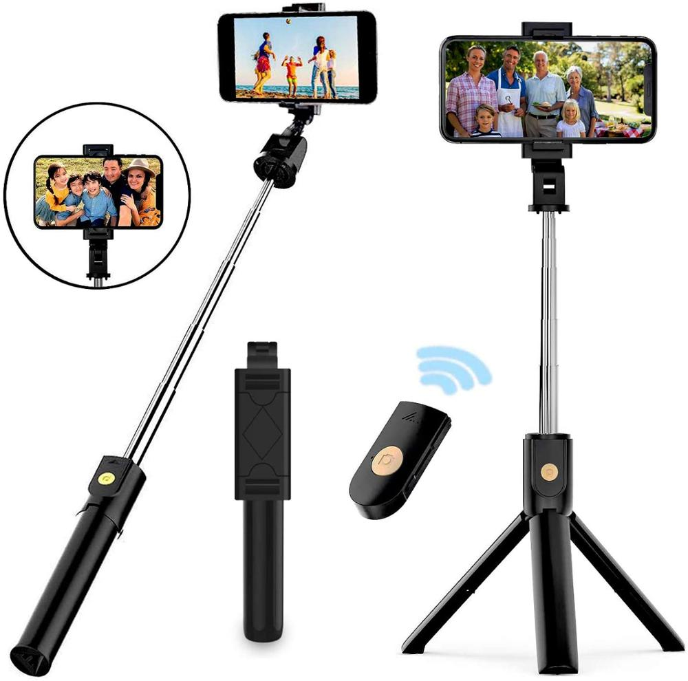 extendable self selfie stick handheld monopod bluetooth shutter remote controller clip holder for iphone android samsung htc ect Mini Tripod Remote Control Selfie Stick Monopod Foldable Wireless Shutter Extendable Monopod For IPhone Android Phone