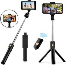 Mini trépied télécommande Selfie bâton monopode pliable sans fil obturateur extensible monopode pour IPhone téléphone Android