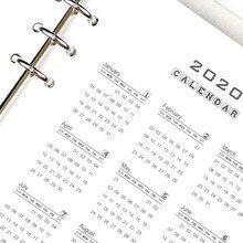 A5 A6 2020 Calendar Ring Binder Notebook Paging Separator Notepad Inner Paper