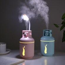 Tanque de gas USB ultrasónico difusor de aceite esencial humidificador de aire con LED luz nocturna mini ventilador para coche