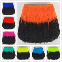 yy tesco 100meters 20cm wide lace fringe trim tassel fringe trimming for latin dress stage clothe accessories lace ribbon tassel