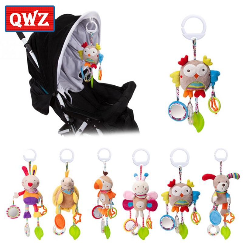 QWZ, nuevos juguetes de sonajero para bebé, bonito cachorro, cochecito de abeja, juguete, sonajero móvil para carrito de bebé, 0-12 meses, cama infantil, regalo colgante