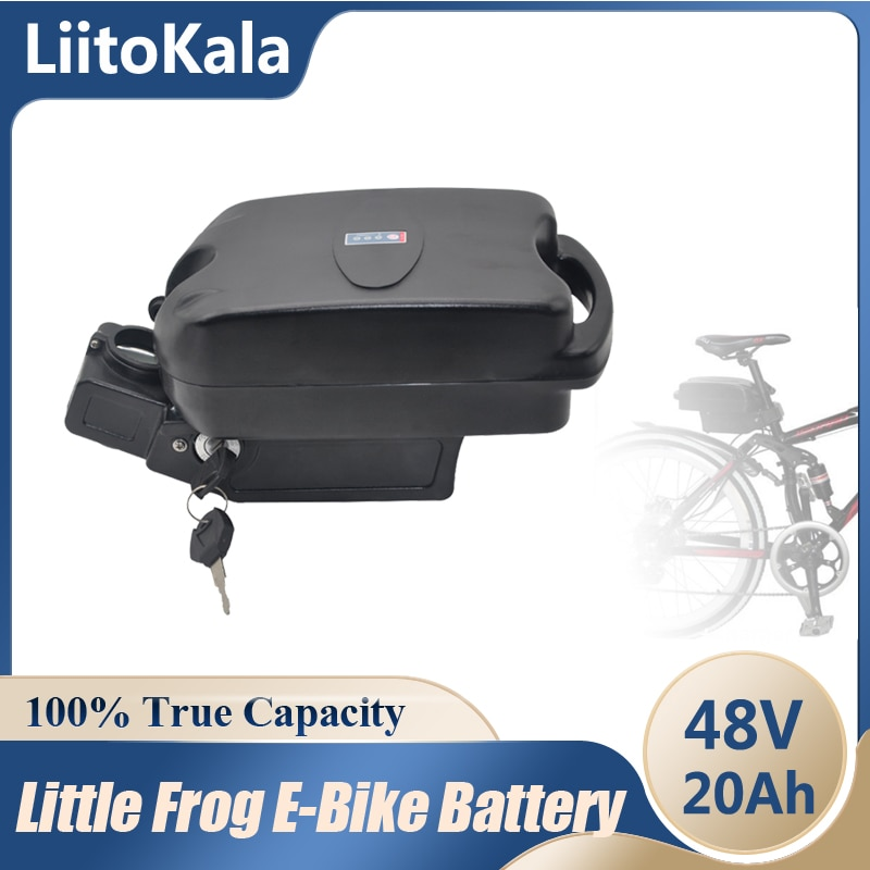 LiitoKala 48 فولت 20 أمبير بطارية دراجة كهربائية الضفدع الصغير تحت مقعد آخر Ebike بطاريات حزمة ل 250 واط-500 واط محرك بافانغ عدة