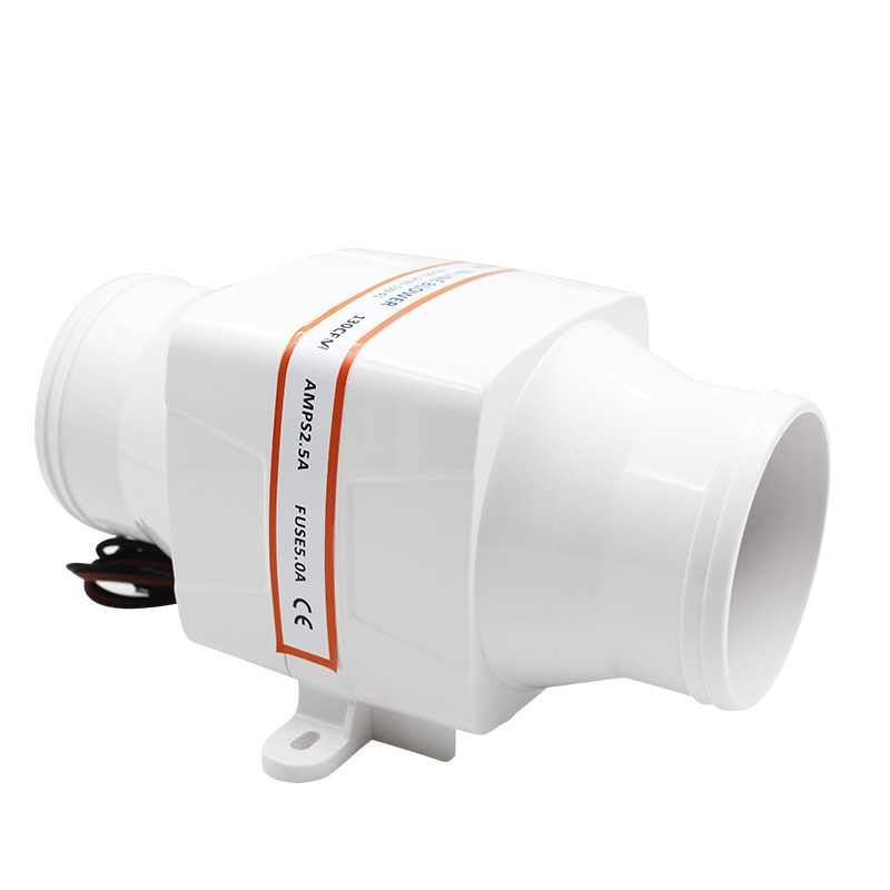 12V 24V DC ventilador de escape de barril recto RV ventilador de ventilación de la batería del yate Saifulle