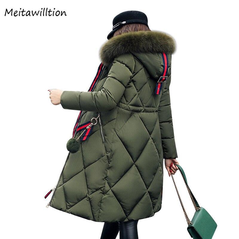 2020 hiver femmes à capuche vers le bas manteau dames col de fourrure épaissir chaud longue veste femme grande taille 5XL vêtements dextérieur Parka