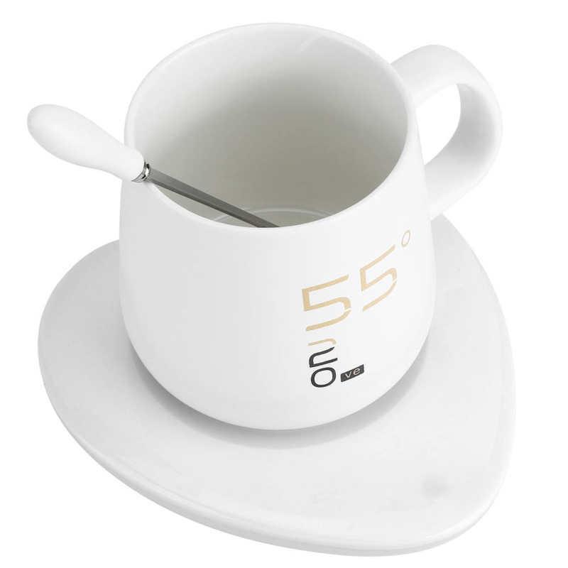 كوب دفئا مجموعة أكواب قهوة كوب سيراميك مع لوحة دفئا هدية عيد ميلاد لعيد الميلاد عيد الحب 220 فولت القهوة دفئا