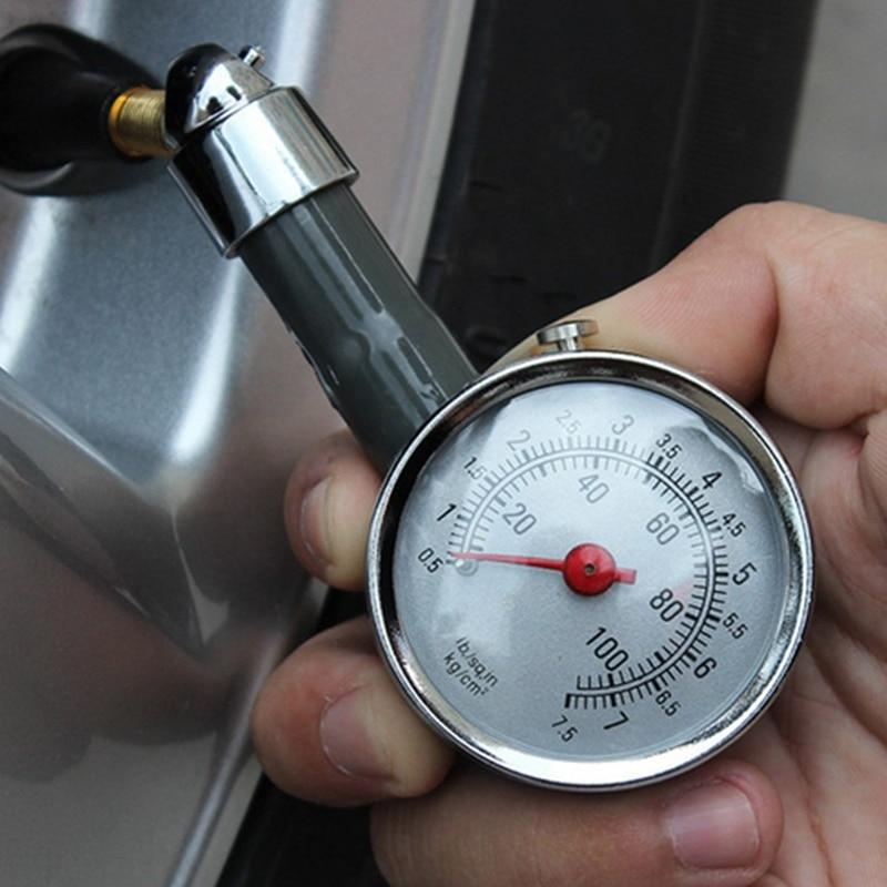 Металлический Автомобильный манометр для шин, автоматический измеритель давления воздуха, тестер, диагностический инструмент для Jeep Bmw Fiat ...