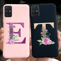 Cute Letters Pattern Phone Case For Samsung M31s SM-M317F Soft Silicone Back Cover For Samsung Galaxy M31s Coque M 31s Fundas