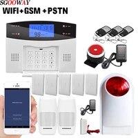 Sgooway     systeme dalarme domestique intelligent  wi-fi  GSM PSTN  avec detecteurs filaires et sans fil  application de sortie de relais  anglais russe espagnol francais