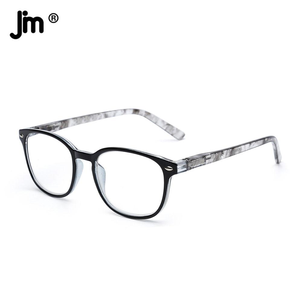 JM Women Men Spring Hinge Reading Glasses Retro Magnifier Diopter Presbyopic Reading Glasses sys0076 3 0 diopter reading presbyopic glasses black