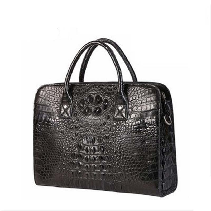 kafandi new crocodile leather men bags business laptop men briefcases single shoulder bag man crocodile handbag bag man handbag